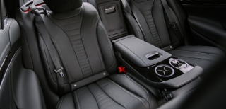 Mercedes S Class (black) rear interior