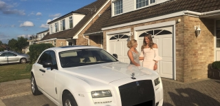Rolls Royce Ghost white Prom