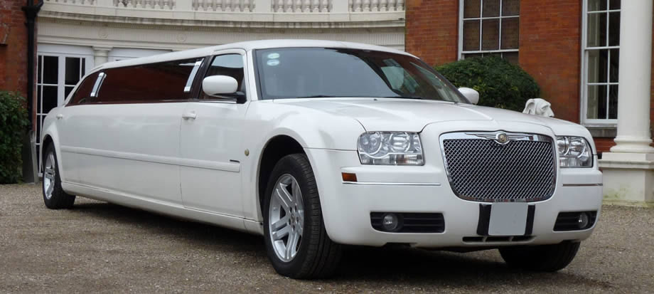 CHRYSLER C300 BABY BENTLEY STRETCH LIMO WHITE